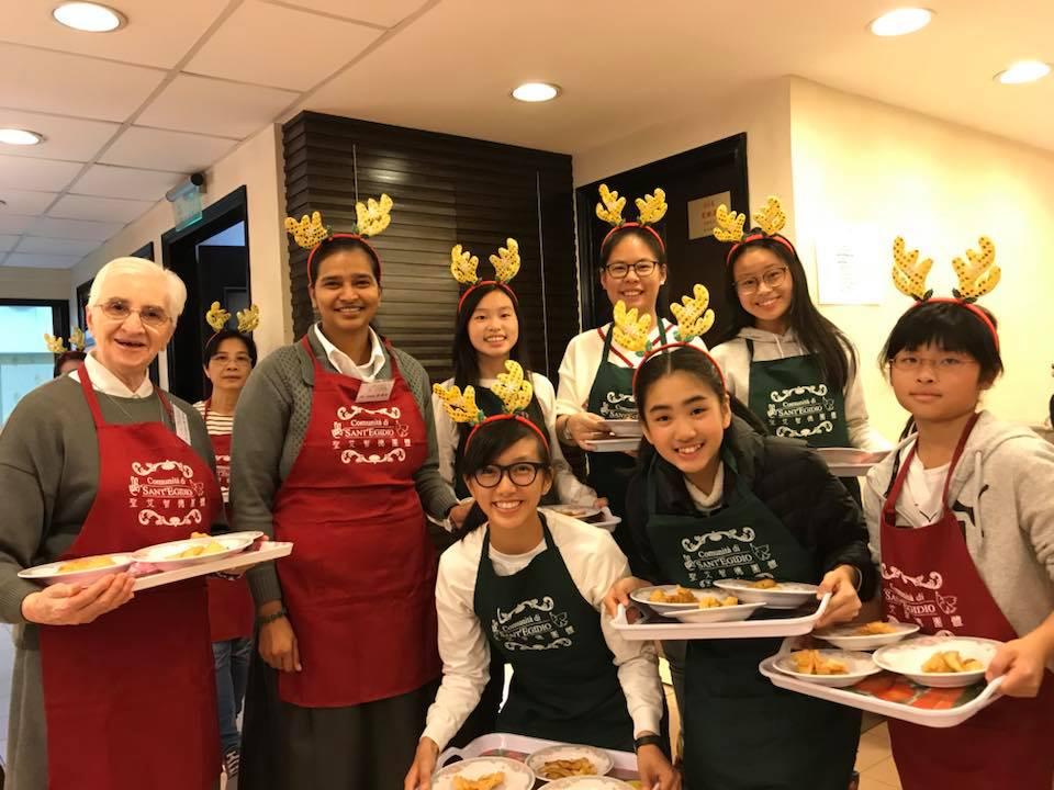 Cena con i poveri ad Hong Kong
