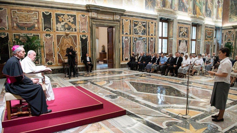 Saluto al Papa di Sr. Antonella